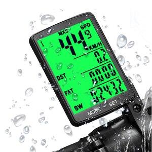 """Image 1 - 2.8 """"Ciclocomputer Senza Fili Wired Bike Computer Impermeabile Tachimetro Contachilometri Cronometro Per Accessori Per il ciclismo 2.0 opzione"""