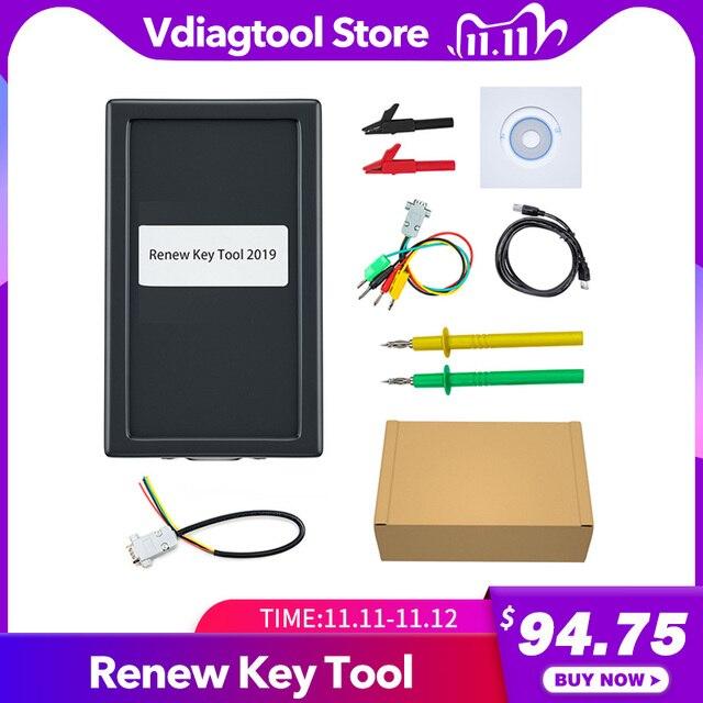 Ferramenta de programação de chave vdiagtool, ferramenta de chave de 2019 mk3 com chave de transponder e chave completa com chave remota de desbloqueio