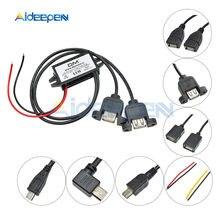 Convertisseur de puissance 12V à 5V, 2A, 3A, 10W, 15W, Micro USB, adaptateur de tension abaisseur, faible chaleur, Protection automatique