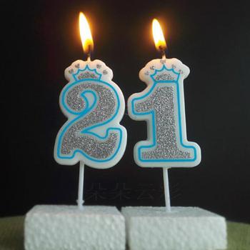 Numer 0-9 świeca urodzinowa Happy świeczki na tort urodzinowy dla dzieci dorosły ślub korona na przyjęcie świeca ciasto przybory do dekoracji tanie i dobre opinie Colored Flame WM8613K Birthdays Paraffin Wax Art Candle Ogólne świeca Number Pink Blue Cake Candle Birthday candles