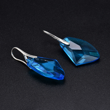 New Fashion Personality Blue women Crystal Long Drop Earrings Jewelry for Woman Free shipping