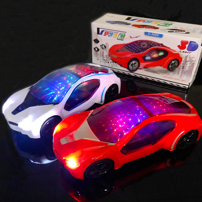New Style With 3D Light And Music Electric Universal Car Concept Car Model CHILDREN'S Toy Treasure Car