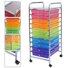 Regenbogen 10 Schublade Roll Lagerung Warenkorb Sammelalbum Papier Büro Schule Organizer