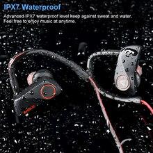 سماعة رأس مزودة بتقنية البلوتوث سماعات لاسلكية مقاوم للماء سماعة رياضية شريط حول الرقبة إلغاء الضوضاء سماعات أذن استريو للهواتف الذكية شاومي