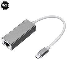 Usb c ethernet para rj45 lan adaptador 10/100mbps USB-C para macbook pro samsung galaxy s9/s8/nota 9 tipo c placa de rede usb ethernet