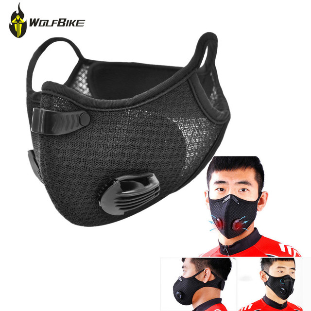 Breathable Cycling Masks Activated Carbon Anti-Pollution Mask Outdoor Sports Road Dustproof MTB Bike Face Cover Shield Mask