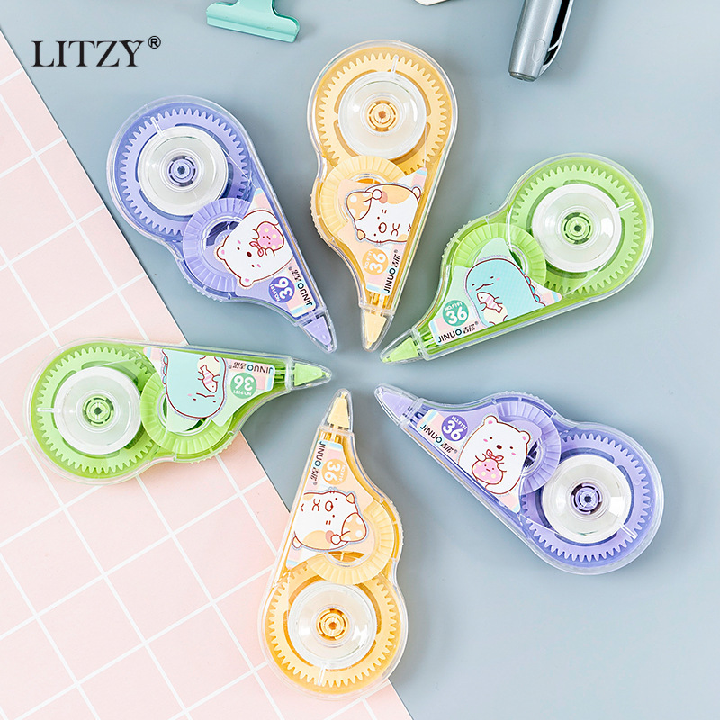 2pcs /Set Kawaii Cartoon Correction Tape Set Erasers School Office Supplies Corrector Tools  Student Kids Stationery Gift
