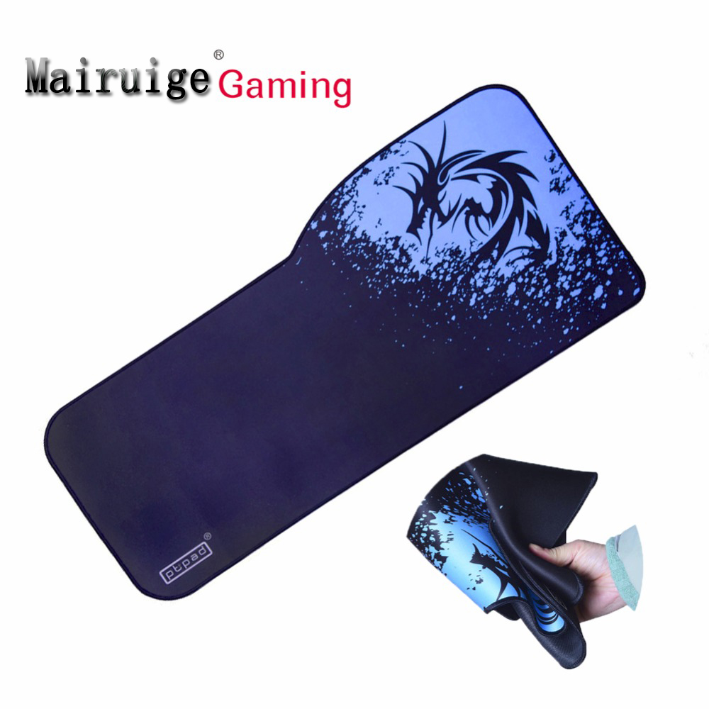 730*380 MM Shaped Blue Dragon Anime Mouse Pad Laptop Large Size Rubber Antiskid Pbpad Logo Keyboard Game Pad Table Mat Speed 1