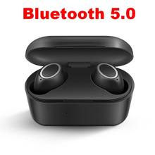 TWS 5.0 Bluetooth Headphone 3D Stereo Wireless Earphone Headset Waterproof Sports Earbuds with Dual Microphone and Charging Case bluetooth earphone 5 0 mini tws wireless stereo headphone ipx5 waterproof sport headset earbuds with dual microphone