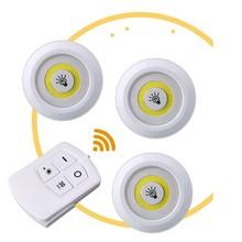 Zasilanie bateryjne ściemnialne światła podszawkowe LED COB LED krążki świetlne szafy światła z pilotem do szafy łazienka tanie tanio FDIK 50000H Brak Przełącznik