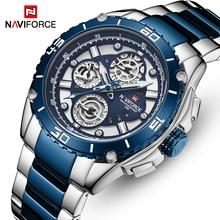 NAVIFORCE 9179 модные часы мужские спортивные часы из нержавеющей стали мужские Бизнес Кварцевые водонепроницаемые мужские часы Relogio Masculino