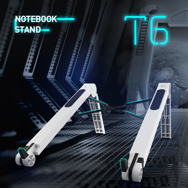 COOLCOLD Lightweight Laptop Cooling Stand Plastic Vertical Laptop Stand Foldable Tablet Stand Bracket Laptop Holder For MacBook