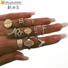 Клен 2000 Принцесса Корона змея кольцо 10 комплектов из нержавеющей