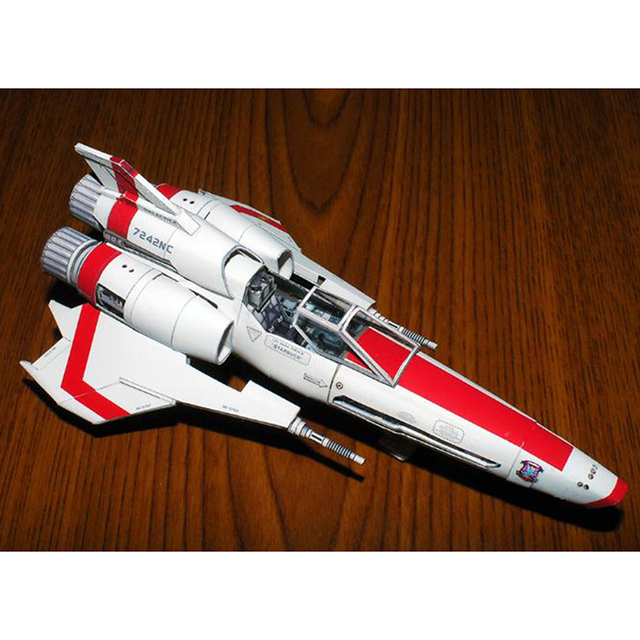 Battlestar Viper 2 Viper Mk2 3D Paper Model DIY Handmade Spacecraft Toy 4