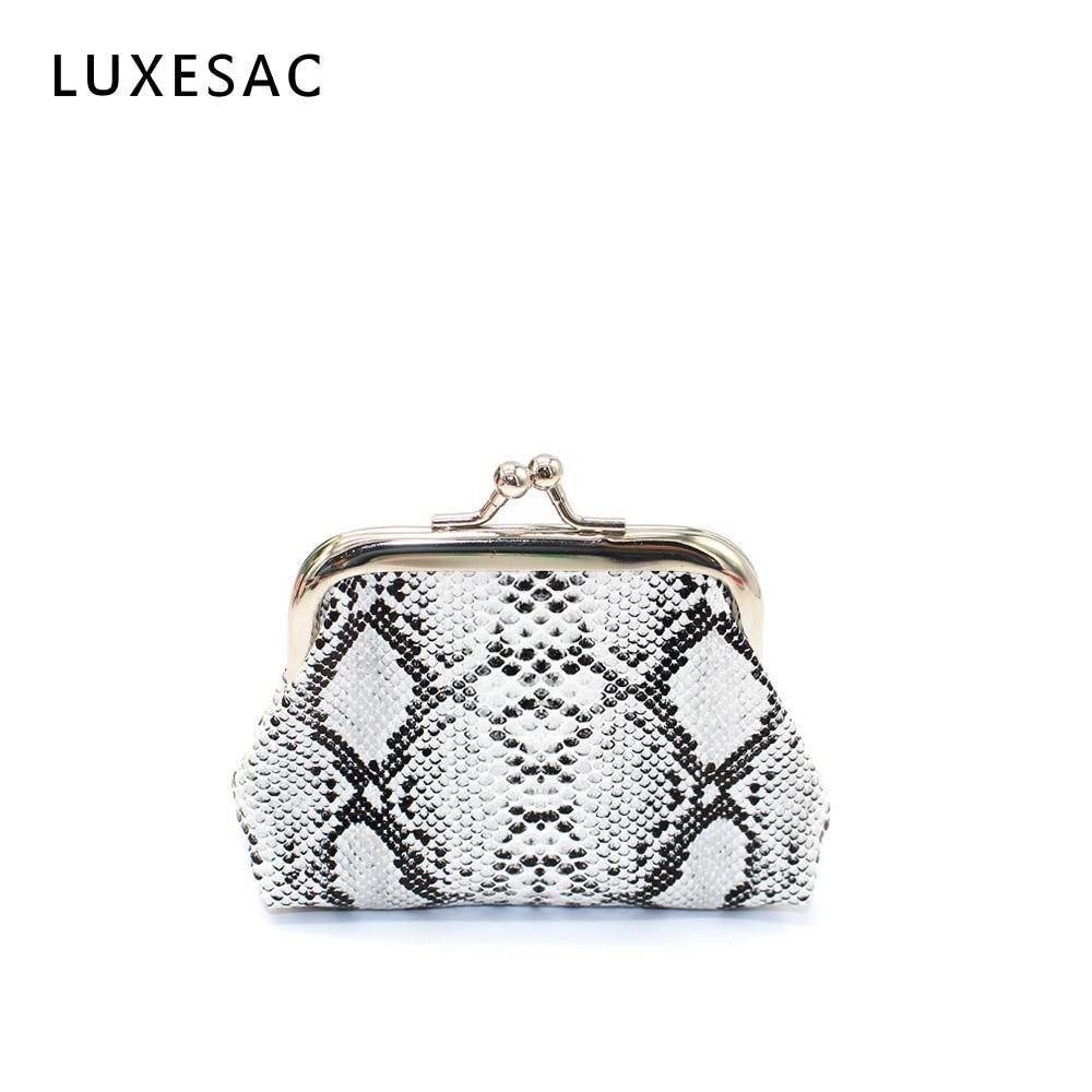 Vintage Snake Print Luxury Designer Coin Purse Bolsas Feminina Mini Pu Leather Ladies Purse Wallet Hight Quality Kiss Lock Sac