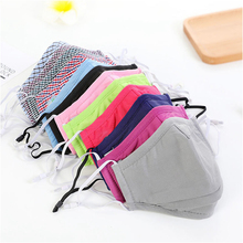 Cotton PM2.5 Mouth Mask Reusable Mask Activated Carbon Filter Windproof Mouth-Muffle Adjustable Elastic buckle Face Masks