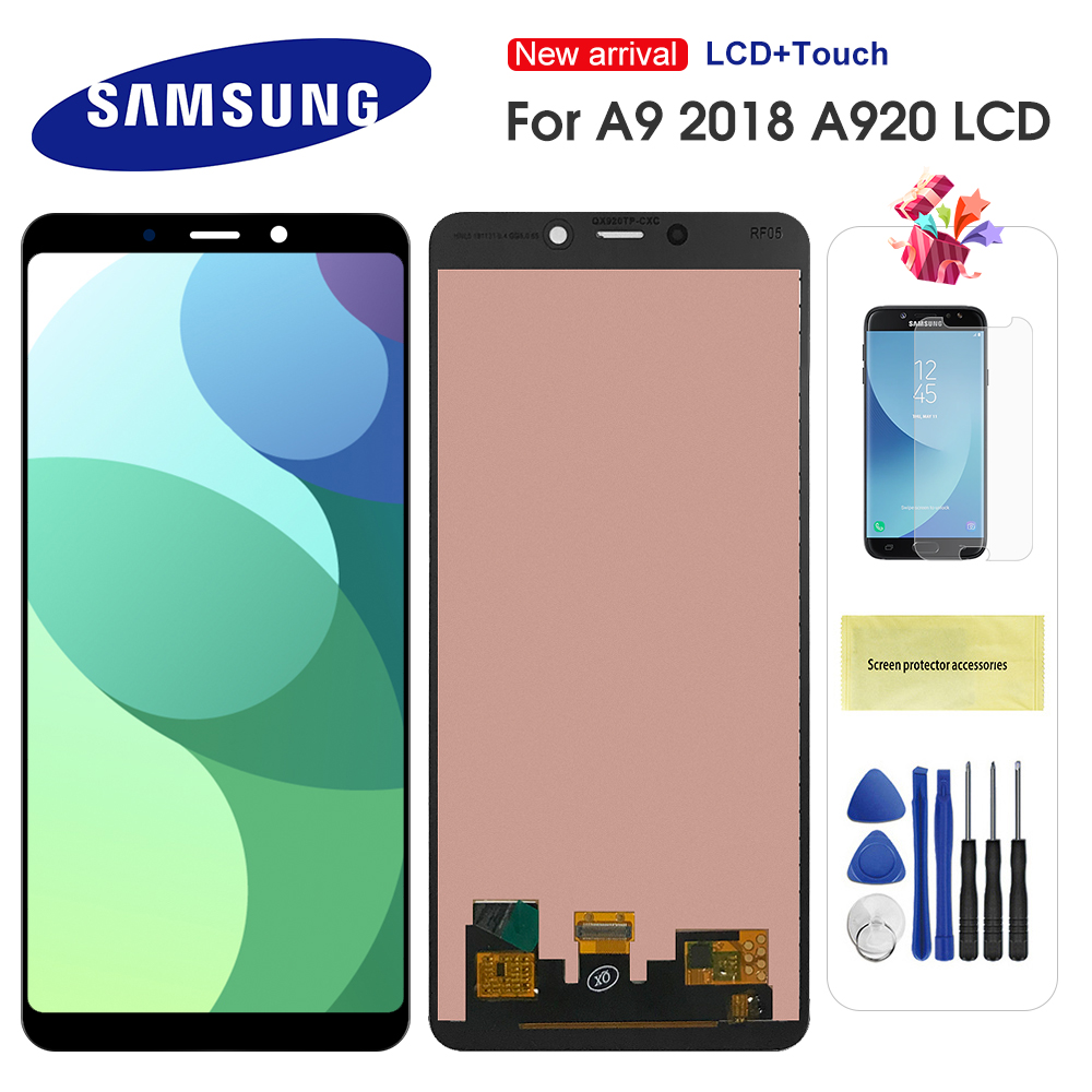 For <font><b>Samsung</b></font> <font><b>Galaxy</b></font> <font><b>A9</b></font> 2018 <font><b>LCD</b></font> A920 A9S <font><b>A9</b></font> Star Pro SM-A920F/DS A920F Display Touch <font><b>Screen</b></font> Digitizer For <font><b>Samsung</b></font> <font><b>a9</b></font> 2018 a920 image