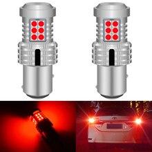 2pcs CANbus 1157 BAY15D P21/5W LED หยุดเบรคไฟสำหรับ Ford Focus MK1 2001 สีแดงสีขาว t25 3157 P27/7W T20 7443 W21/5W หลอดไฟ LED