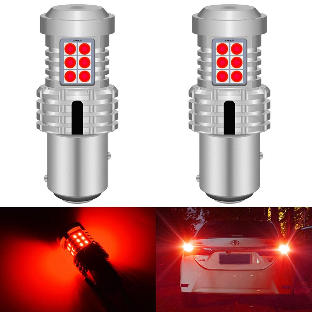 Luzes de parada de freio com led canbus, 2 peças, luz canbus 1157 bay15d p21/5w, para ford focus mk1 2001, vermelho e branco lâmpada de led t25 3157 p27/7w t20 7443 w21/5w
