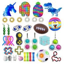 Fidget Toys Anti Stress Set Pop It Popit Gift Pack Push Bubble Fidget Sensory Toys For Adults Children Stress Relief Toy