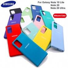 Samsung note20 ultra caso de alta qualidade silicone líquido macio capa traseira para samsung galaxy note20 nota 10 lite nota 20 ultra caso