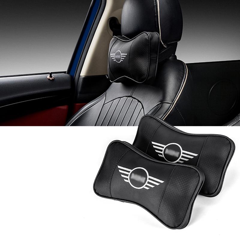 Car Memory cotton Logo headrest For BMW MINI CLUBMAN COUNTRYMAN COOPER S JCW F54 F55 F56 F57 F60 R55 R56 R60 Rest Neck pillow