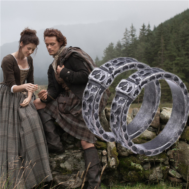Outlander Ring Cosplay Costumes Props Claire Randall Jamie Fraser Antiquity Metal Ring