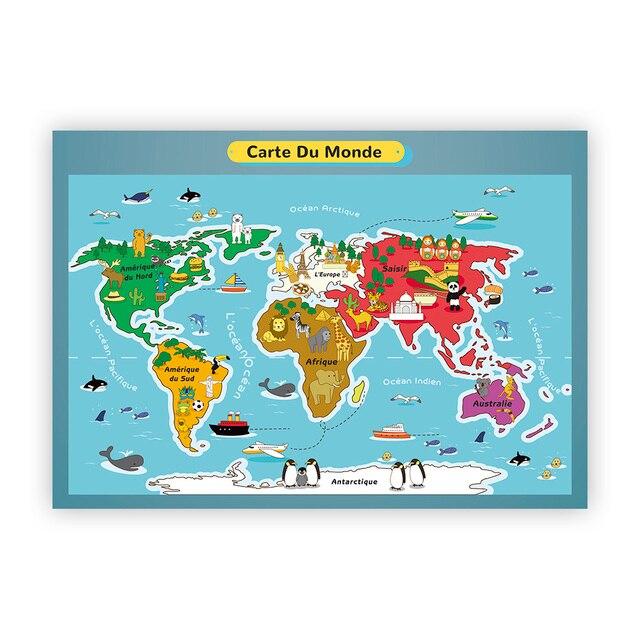 Berkat berada di garis lintang tersebut, bumi pertiwi berada di garis khatulistiwa. Peta Dunia Kartun Bahasa Inggris Bahasa Jerman Bahasa Perancis Spanyol Jalan Pendidikan Prasekolah Poster Pembibitan Sekolah Rumah Tk Kelas Dekorasi Aliexpress Rumah Taman