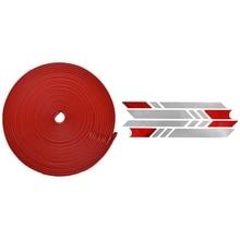 1 шт. защитный бампер для скутера для Xiaomi Mijia M365 Электрический скейтборд полоски(красный) с 1 шт. отражающий светильник тегов Pastor