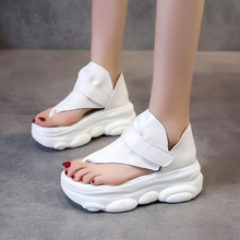 White Black Pu Leather Clip Toe Sandals Women Summer Shoes Cute Bear Sole Platform Sandals sweet Female Thick Sole Beach Shoes timetang new 2018 summer shoes women sandals flat platform shoes sweet women s beach sandals thick sole big size 43 c187