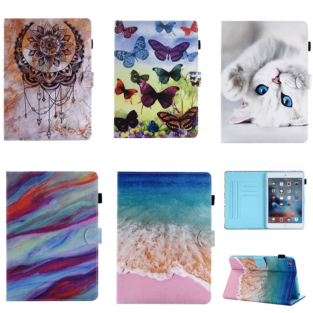 For iPad 9.7 2017 / 2018 iPad 5 6 air2 case Cartoon flip PU leather Magnetic Smart Shockproof Cover For iPad air Flip stand case