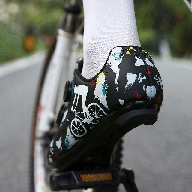 Sapatos de bicicleta de estrada novos sapatos de ciclismo homens esporte profissional zapatillas ciclismo mtb calçado de montanha auto-bloqueio tênis de bicicleta 5