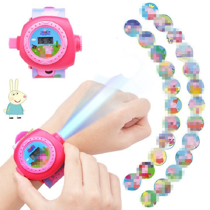 Peppa Pig George Projection Watch Action Figure Peppa Pig Birthday Anime Figure PEPPA PIG Patrulla Canina Toy Gift