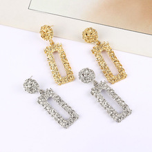 Trendy Metal Drop Earrings For Women Gold Silver Color Geometric Fashion Statement Hanging Earring ZA 2019 New Jewelry Wholesale