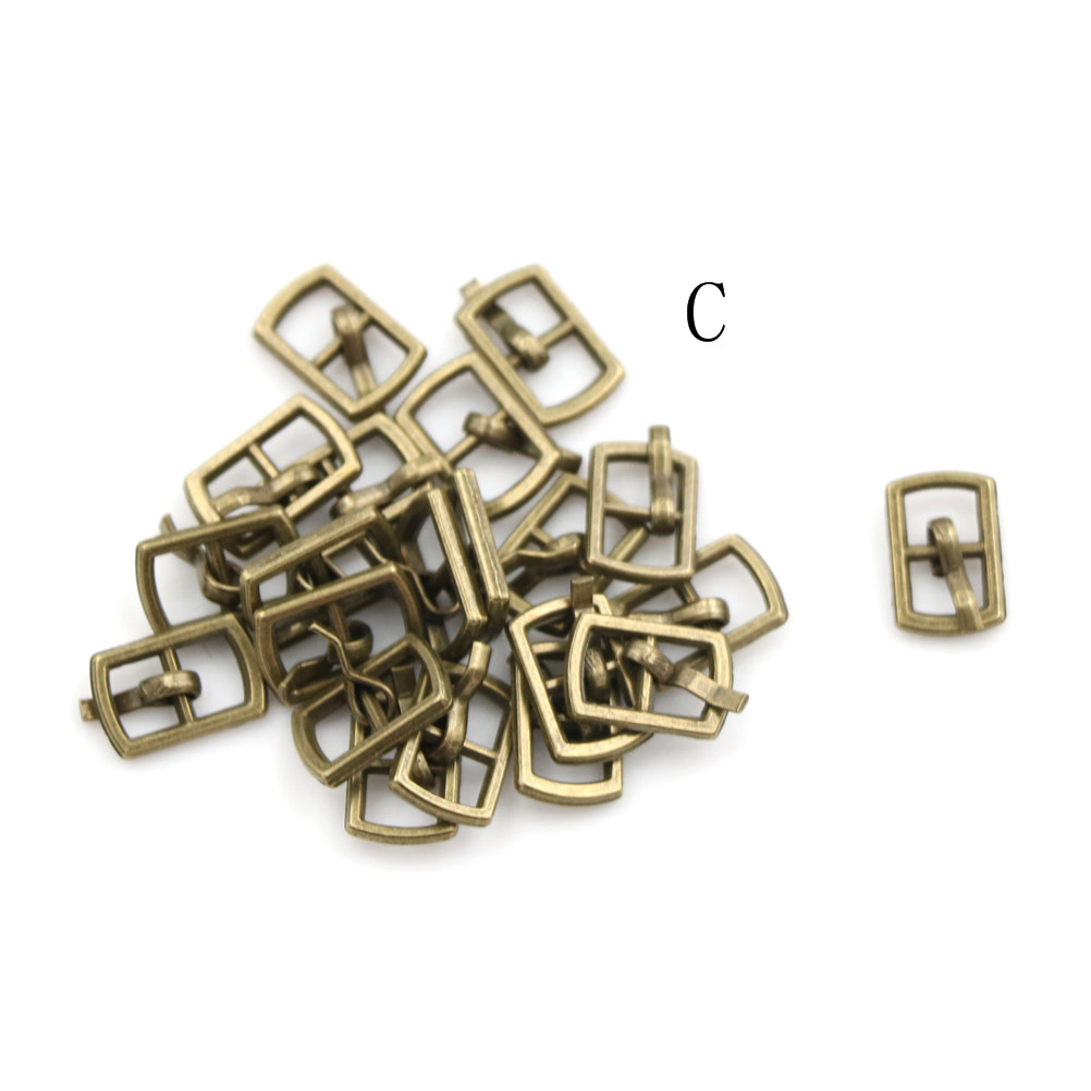 3/10PCS 4.5mm Mini Buckle DIY Patchwork Buckle For Dolls Clothing Adjustable Accessories Handmade Sewing 7