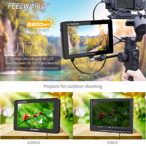 Image 2 - FEELWORLD LUT7S 7 Inch 3G SDI 4KHDMI 2200nits 3D LUT Touch Screen DSLR Camera Field Monitor with Waveform VectorScope Histogram
