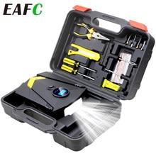 (Met Doos) digitale Auto Band Opblaasbare Pomp Verlichting Auto Luchtcompressor Voor Auto Wiel Banden Elektrische 12V Bandenpomp