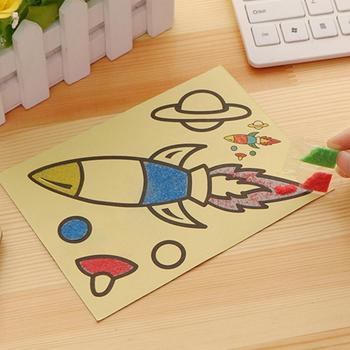 DIY Sand Painting Educational Kids Montessori Toys Student Cartoon Send Doodle to Children Colored Toys Sand Crafts Creativ F0L2 image