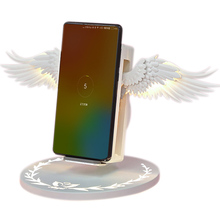 Wireless Charging Dock 10W Angel Wings Stand Fast Charger for Huawei iPhone Samsung AS99