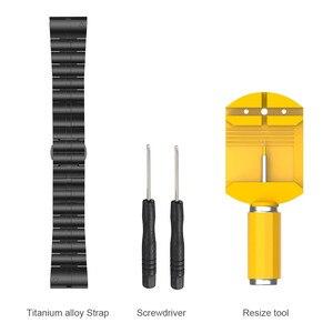 Image 5 - עבור Garmin Fenix 6X/6X פרו/5X בתוספת רצועת 26mm טיטניום סגסוגת פרפר אבזם להקת שעון עבור garmin Fenix 6 /6 פרו/5 בתוספת 22mm
