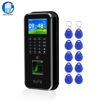 RFID Access Control System Realand 2.4inch TCP/IP/RS485 Biometric Fingerprint Time Attendance Machine Employee Check-in Recorder