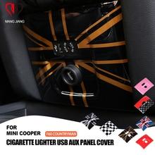 ADET Sendika Jack AUX Çakmak ayar kapağı Durumda Sticker mini cooper Için F60 Countryman Araba araba styling İç Dekorasyon
