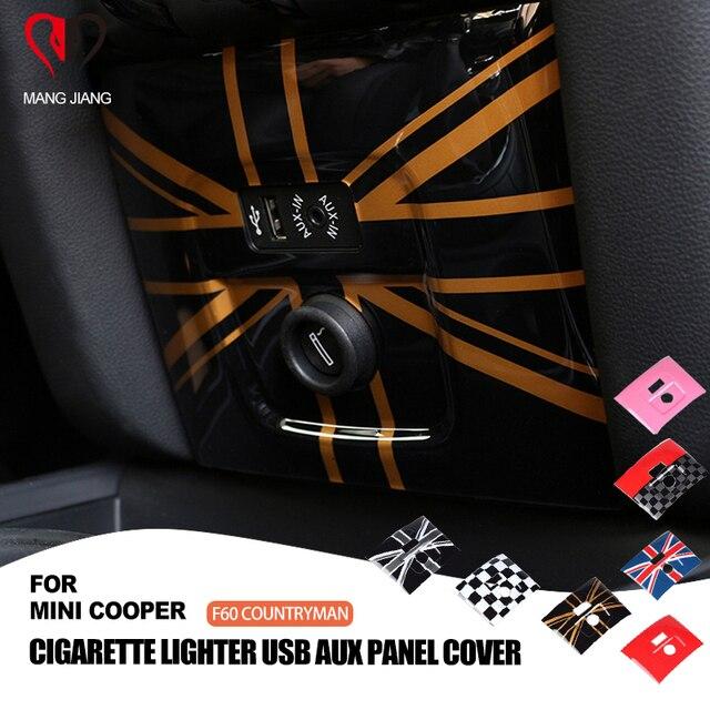 PC flaga union jack AUX zapalniczki pokrywa osłonowa Case naklejka dla mini cooper F60 Countryman stylizacja wnętrza samochodu dekoracji