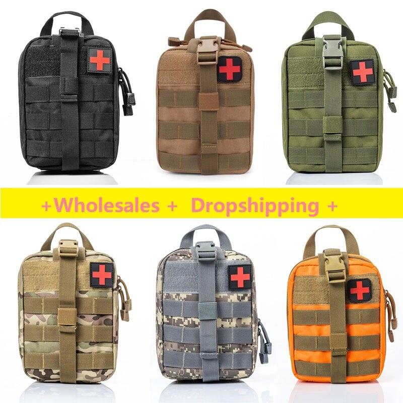 Bolsa de sobrevivência ao ar livre caixa médica grande tamanho saco sos/pacote tático primeiros socorros saco kit médico molle emergência emt|Kits de emergência|   -