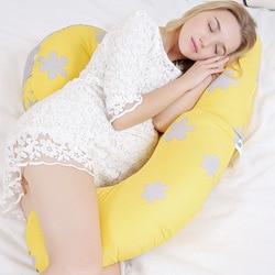 Almohada de apoyo para dormir para embarazadas, almohada de maternidad de cuerpo completo, almohadas de algodón para dormir