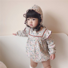 Newborn Girls Jumpsuit Romper Long-Sleeve Floral Infant Baby Princess Korean for