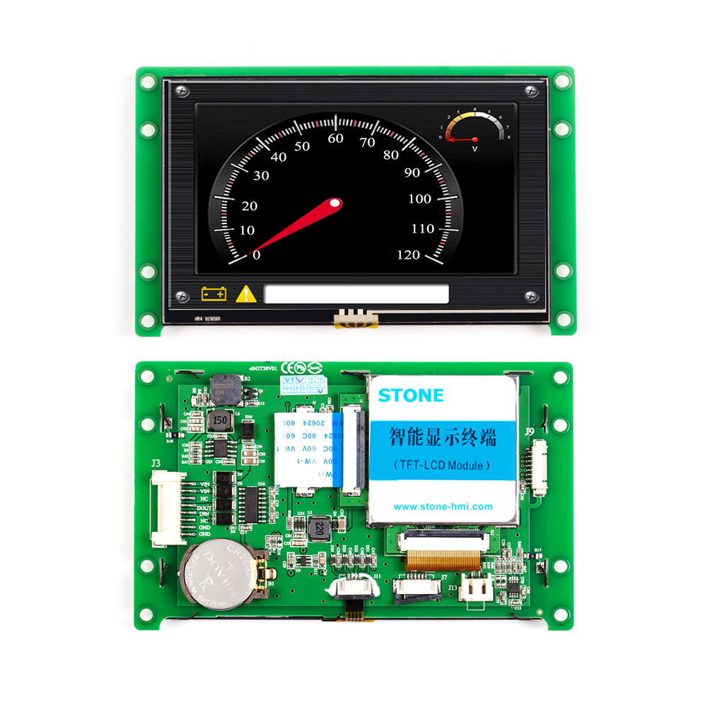 4.3 inch 480x272 LCD Screen Panel with Software & UART Port & Controller 100PCS image