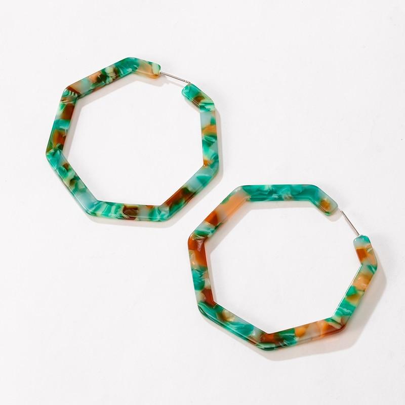 Geometric Statement Multicolor Acrylic Drop Earrings for Women Vintage Polygon Resin Dangle Earings Fashion 2020 Wedding Jewelry