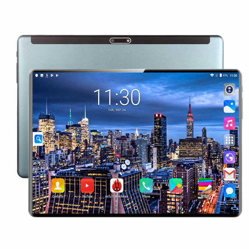 Full Size Glass Screen Tablet 10.1 Inch Android 9.0 6GB RAM 128GB ROM Octa Core 3G 4G LTE 1280*800 IPS 8.0MP GPS WiFI Tablets Pc