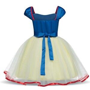 1 год для маленьких девочек s одежда милый 2nd платье на день рождения для детей для маленьких девочек праздничное платье принцессы для девочек для костюмированной вечеринки костюм Белоснежки детский халат